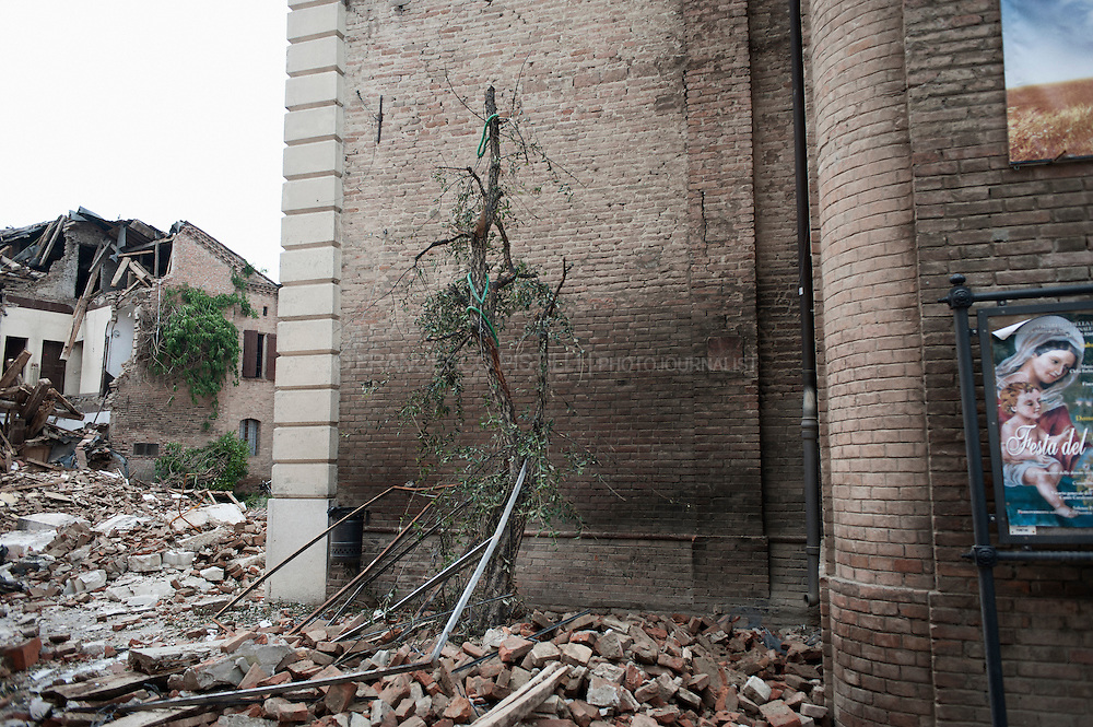 Italy. May 2012. Finale Emilia (MO). An historical structure have been damaged.<br /> <br /> At 4:05 a.m. local time on May 20th, a 6.0 Richter magnitude earthquake, struck the northern Italian region of Emilia-Romagna on 20 May 2012. The epicentre was between Finale Emilia and San Felice sul Panaro. Seven people dead including four workers at a Ceramics factory About 5.000 people have been left homeless. At least one hundred structures of historical significance have been damaged or destroyed.