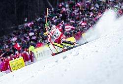 "29.01.2019, Planai, Schladming, AUT, FIS Weltcup Ski Alpin, Slalom, Herren, 1. Lauf, im Bild Michael Matt (AUT) // Michael Matt of Austria in action during his 1st run of men's Slalom ""the Nightrace"" of FIS ski alpine world cup at the Planai in Schladming, Austria on 2019/01/29. EXPA Pictures © 2019, PhotoCredit: EXPA/ JFK"
