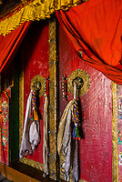 Doors, Diskit Monastery, Nubra Valley, Ladakh; Jammu and Kashmir State, India.