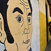 Mural de Simon Bolivar en un colegio en Mérida - Venezuela .Photography by Aaron Sosa.Venezuela 2006.(Copyright © Aaron Sosa)