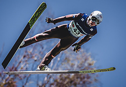30.09.2018, Energie AG Skisprung Arena, Hinzenbach, AUT, FIS Ski Sprung, Sommer Grand Prix, Hinzenbach, im Bild Daniel Huber (AUT) // Daniel Huber of Austria during FIS Ski Jumping Summer Grand Prix at the Energie AG Skisprung Arena, Hinzenbach, Austria on 2018/09/30. EXPA Pictures © 2018, PhotoCredit: EXPA/ Stefanie Oberhauser