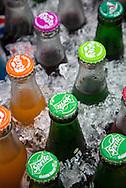 Bottles at street market, Bangkok.