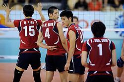 08-07-2010 VOLLEYBAL: WLV NEDERLAND - ZUID KOREA: EINDHOVEN<br /> Nederland verslaat Zuid Korea met 3-0 / Signs tekens van Sung Min Moon<br /> ©2010-WWW.FOTOHOOGENDOORN.NL