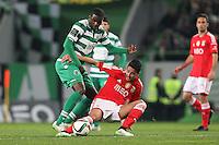 Andre Almeida /  William Carvalho   - 08.02.2015 - Sporting / Benfica - Liga Sagres<br />Photo : Carlos Rodrigues / Icon Sport