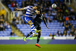 Yann Kermorgant of Reading and Hope Akpan of Blackburn Rovers jump to head the ball - Mandatory by-line: Jason Brown/JMP - 04/04/2017 - FOOTBALL - Madejski Stadium - Reading, England - Reading v Blackburn Rovers - Sky Bet Championship