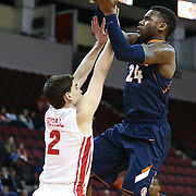Rayvonte Rice #24 of the Illinois Fighting Illini goes up for a shot during the NIT First Round game at Agganis Arena on March 19, 2014 in Boston, Massachusetts . (Photo by Elan Kawesch)