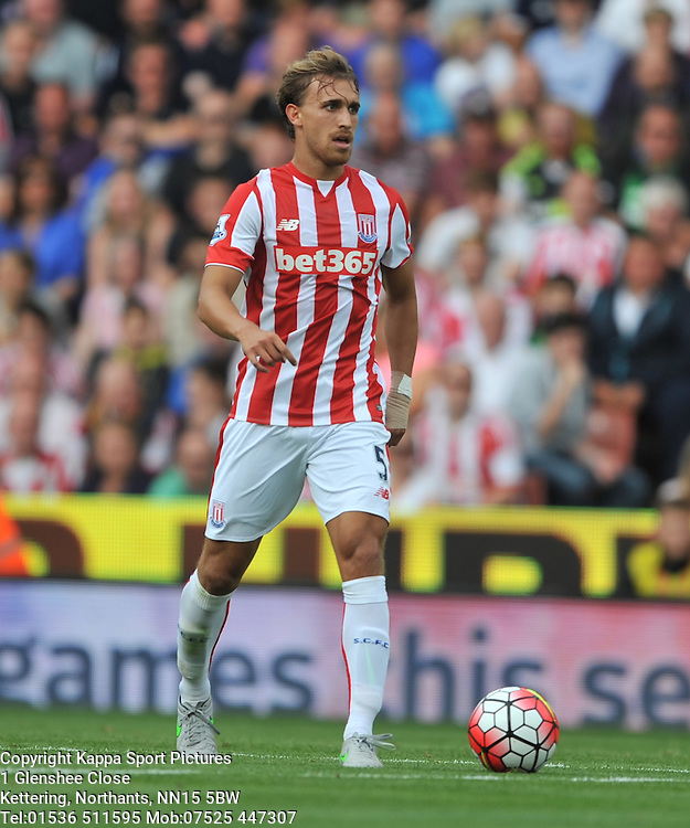 MARC MUNIESA STOKE CITY, Stoke City v Liverpool, Premiership, Britannia Stadium Sunday 9th August 2015