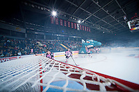 KELOWNA, CANADA - OCTOBER 20:  The Kelowna Rockets enter the ice to play the  Brandon Wheat Kings at the Kelowna Rockets on October 20, 2012 at Prospera Place in Kelowna, British Columbia, Canada (Photo by Marissa Baecker/Shoot the Breeze) *** Local Caption ***