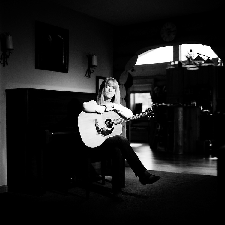 ANCHORAGE, ALASKA - 2012: Singer songwriter, Janie Lidey.