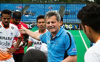 BRASSCHAAT (ANTWERP - Belgium) -  Dutch Paul van Ass, coach from India  during the Fintro Hockey World League Semi-Final match between the men of India and France (3-2) COPYRIGHT WORLDSPORTPICS KOEN SUYK