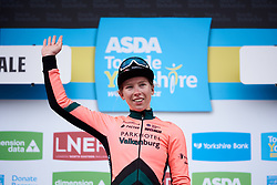 Stage winner, Lorena Wiebes (NED) at ASDA Tour de Yorkshire Women's Race 2019 - Stage 1, a 132 km road race from Barnsley to Bedale, United Kingdom on May 3, 2019. Photo by Sean Robinson/velofocus.com