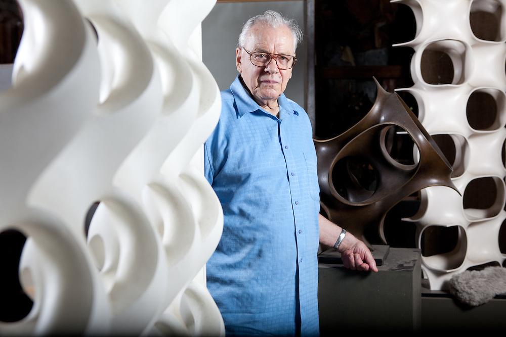 Sculptor Erwin Hauer For The Boston Globe