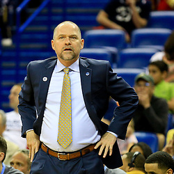 Mar 31, 2016; New Orleans, LA, USA; Denver Nuggets head coach Michael Malone against the New Orleans Pelicans during the first quarter of a game at the Smoothie King Center. Mandatory Credit: Derick E. Hingle-USA TODAY Sports