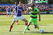 Forest Green Rovers Gavin Gunning(16) on the ball during the EFL Sky Bet League 2 match between Forest Green Rovers and Exeter City at the New Lawn, Forest Green, United Kingdom on 4 May 2019.