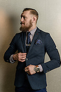 MANCHESTER, ENGLAND, NOVEMBER 25, 2013: Conor McGregor poses for a portrait inside the Crowne Plaza hotel in Manchester, England (Martin McNeil for ESPN)