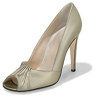 richard shah shoe shiny gold