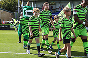 Ambassadors during the EFL Sky Bet League 2 match between Forest Green Rovers and Colchester United at the New Lawn, Forest Green, United Kingdom on 14 September 2019.