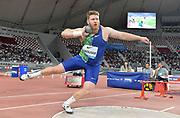 Ryan Crouser (USA) wins the shot put at 72-7 1/4 (22.13m) during the IAAF Doha Diamond League 2019 at Khalifa International Stadium, Friday, May 3, 2019, in Doha, Qatar