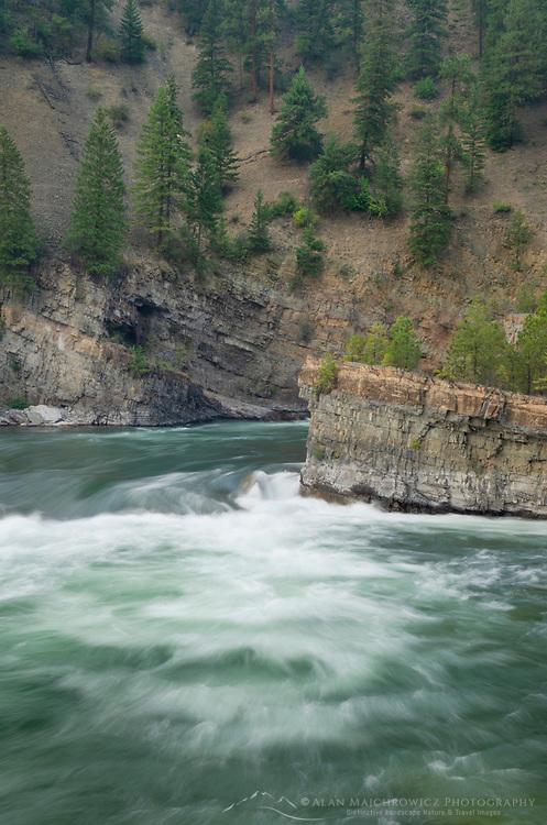 Kootenai Falls Montana, a series of cascades on the Kootenai River in Northwestern Montana.
