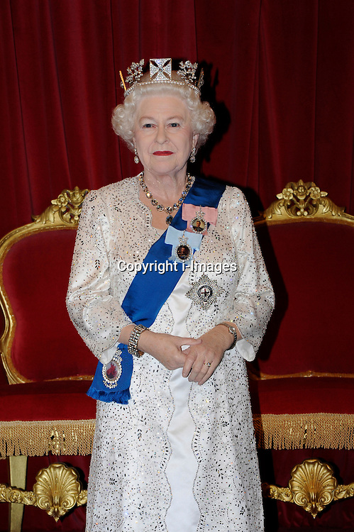 The 23rd waxwork edition of Queen Elizabeth II is unveiled at Madame Tussauds in London, Monday May 14, 2012 Photo by: Chris Joseph / i-Images