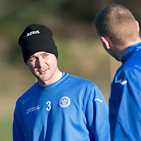 St Johnstone Training...19.12.14<br /> Tam Scobbie pictured back in training after a long injury layoff<br /> Picture by Graeme Hart.<br /> Copyright Perthshire Picture Agency<br /> Tel: 01738 623350  Mobile: 07990 594431