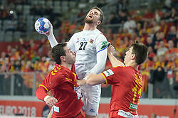Zdrahala Andrej of Czech Republic during handball match between National teams of Macedonia and Czech Republic on Day 6 in Main Round of Men's EHF EURO 2018, on January 23, 2018 in Arena Varazdin, Varazdin, Croatia. Photo by Mario Horvat / Sportida