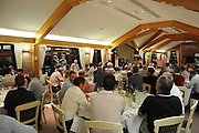 A packed out dinner hall during the Julian Speroni Testimonial Golf Day at the Surrey National Golf Club, Chaldon, United Kingdom on 9 September 2015. Photo by Michael Hulf.