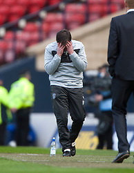 Hibernian's manager Pat Fenlon near the end of normal time..Hibernian 4 v 3 Falkirk, William Hill Scottish Cup Semi Final, Hampden Park..©Michael Schofield..