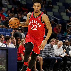 Oct 11, 2018; New Orleans, LA, USA; Toronto Raptors guard Malachi Richardson (22) against the New Orleans Pelicans during the second half at the Smoothie King Center. Mandatory Credit: Derick E. Hingle-USA TODAY Sports