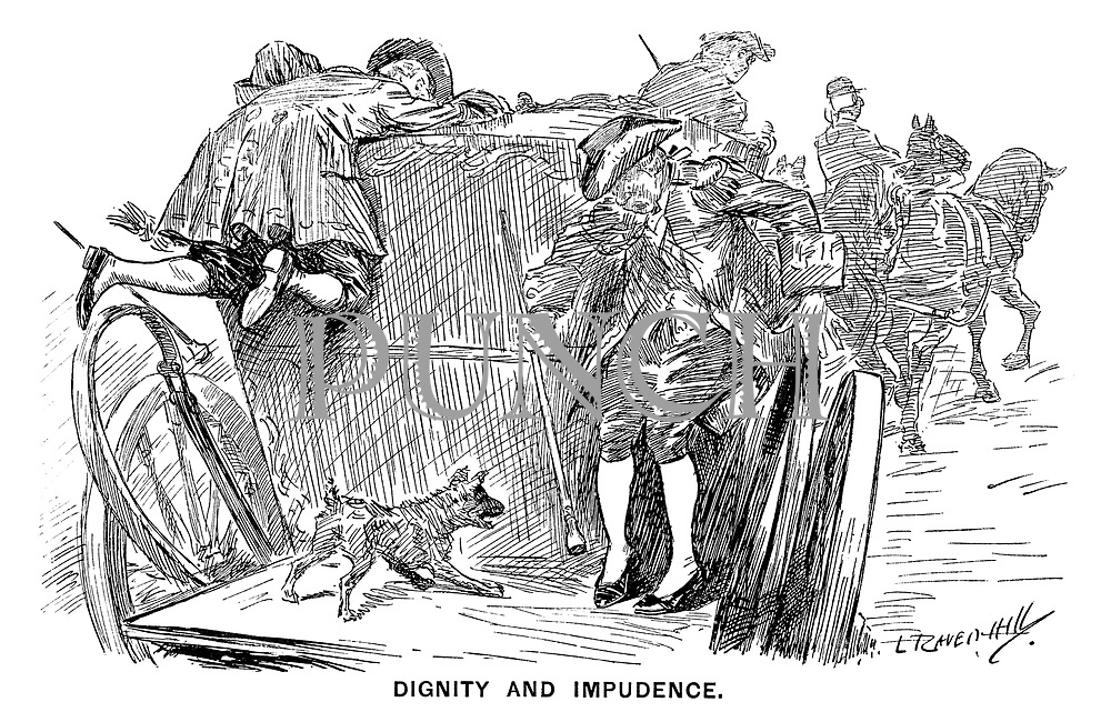 Dignity and Impudence. (a dog is offended by a footman's white stockings while onboard a stagecoach)