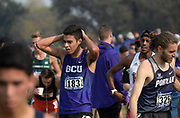 Nov 9, 2018; Sacramento, CA, USA; Daniel Flores (183) of Grand Canyon reacts after the men's race during the NCAA West Regional at Haggin Oaks Golf Course.