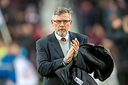 Craig Levein, manager of Heart of Midlothian before the Ladbrokes Scottish Premiership match between Heart of Midlothian and Motherwell at Tynecastle Stadium, Edinburgh, Scotland on 8 December 2018.
