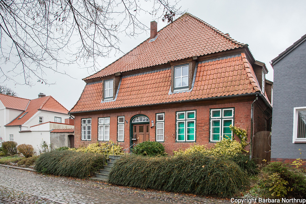 Hieligen Hafen, Germany.  This house is where the oldest sister of Marie Schmidt lived. The house was once used in the 1800's by the King of Denmark for lodging.