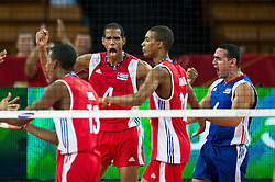 11.09.2014, Centennial Hall, Breslau, POL, FIVB WM, Kuba vs Russland, Gruppe F, im Bild Kuba radosc Javier Ernesto Jimenez Scull cuba #4 Keibel Gutierrez Torna cuba #6 // Javier Ernesto Jimenez Scull cuba #4 Keibel Gutierrez Torna cuba #6 during the FIVB Volleyball Men's World Championships 2nd Round Pool F Match beween Cuba and Russia at the Centennial Hall in Breslau, Poland on 2014/09/11. EXPA Pictures © 2014, PhotoCredit: EXPA/ Newspix/ Sebastian Borowski<br /> <br /> *****ATTENTION - for AUT, SLO, CRO, SRB, BIH, MAZ, TUR, SUI, SWE only*****
