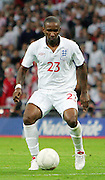 Jermain Defoe in action during the international friendly match between England and Slovenia at Wembley Stadium, London on the 5th September 2009