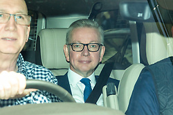 © Licensed to London News Pictures. 09/06/2019. London, UK. Secretary of State for Environment, Food and Rural Affairs Michael Gove is driven out of BBC Broadcasting House after appearing on The Andrew Marr Show. Photo credit: Rob Pinney/LNP