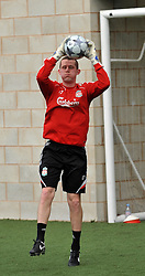 LIVERPOOL, ENGLAND - Tuesday, May 12, 2009: Ex-Liverpool youth team player Paul Harrison during a training session at Melwood as the players prepare for the Hillsborough Memorial Game in aid of the Marina Dalglish Appeal which will be staged at Anfield on May 14. (Photo by Dave Kendall/Propaganda)