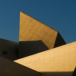 Architectural detail of the Denver Art Museum in Denver, Colorado.