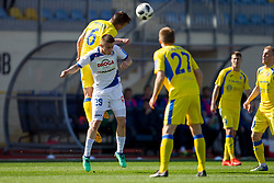 Tilen Klemencic of NK Domzale and Dario Vizinger of NK Celje during football match between NK Domzale and NK Celje in Round #20 of Prva liga Telekom Slovenije 2017/18, on April 18, 2018 in Sports Park Domzale, Domzale, Slovenia. Photo by Urban Urbanc / Sportida