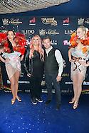 Loana et son compagnon Frederic Cauvin lors de la Ceremonie de la Finale du Concours Top Model Belgium au Lido de Paris presentee par Adriana Karembeu. France, Paris, le 10 mai 2015.