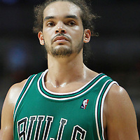 17 March 2012: Chicago Bulls center Joakim Noah (13) is seen during the Chicago Bulls 89-80 victory over the Philadelphia Sixers at the United Center, Chicago, Illinois, USA.