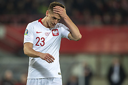 March 21, 2019 - Vienna, Austria - Krzystof Piatek of Poland reacts during the UEFA European Qualifiers 2020 match between Austria and Poland at Ernst Happel Stadium in Vienna, Austria on March 21, 2019  (Credit Image: © Andrew Surma/NurPhoto via ZUMA Press)