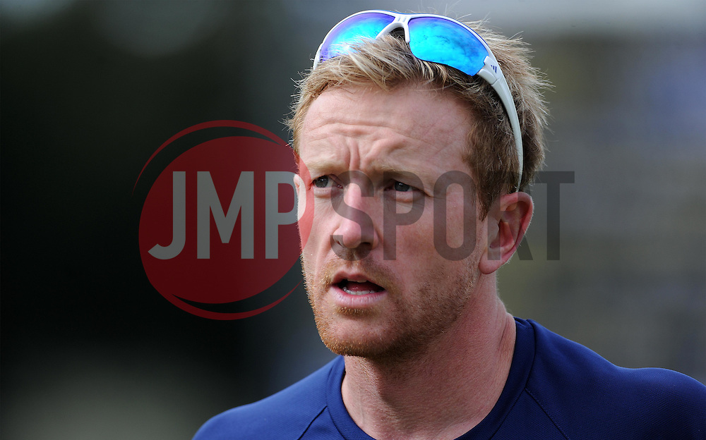 Durham's Paul Collingwood - Photo mandatory by-line: Harry Trump/JMP - Mobile: 07966 386802 - 13/04/15 - SPORT - CRICKET - LVCC County Championship - Day 2 - Somerset v Durham - The County Ground, Taunton, England.