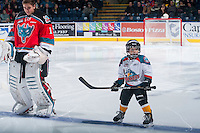 KELOWNA, CANADA - NOVEMBER 29: The Pepsi Save-On Foods player of the game lines up with the Kelowna Rockets against the Regina Pats on November 29, 2014 at Prospera Place in Kelowna, British Columbia, Canada.  (Photo by Marissa Baecker/Shoot the Breeze)  *** Local Caption *** Pepsi Save-On Foods player;