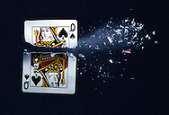 High Speed Photography with bullets.
