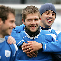 St Johnstone Training...07.11.06<br />Neil Janczyk and Allan McManus in training this morning before facing Rangers in tomorrow nights CIS Cup quarter final at Ibrox.<br />see story by Gordon Bannerman Tel: 01738 553978 or 07729 865788<br />Picture by Graeme Hart.<br />Copyright Perthshire Picture Agency<br />Tel: 01738 623350  Mobile: 07990 594431