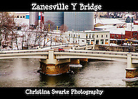 y bridge image for sale, Opened in 1902. The Zanesville Y-Bridge is a historic Y-shaped bridge that spans the confluence of the Licking and Muskingum Rivers in downtown Zanesville, Ohio. It carries the traffic of U.S. Route 40, as well as Linden Avenue.