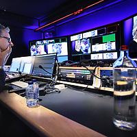 Nederland, Amsterdam , 15 september 2014.<br /> Ronnie Overgoor lanceert een nieuw online video bedrijf waarvoor de studio opnames gemaakt worden in Desmet. <br /> Ik ga een televisiestation beginnen voor ondernemend Nederland. Met studio opnames vanuit Desmet Studio's Amsterdam en met programma's op lokatie.<br /> Opnames N Channel in  DeSmet Studio's .<br /> Op de foto: presentator Ronnie Overgoor in de regiekamer.<br /> <br /> <br /> Foto:Jean-Pierre Jans