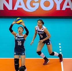 14-10-2018 JPN: World Championship Volleyball Women day 15, Nagoya<br /> China - United States of America 3-2 / Xia Ding #16 of China, Xiangyu Gong #6 of China