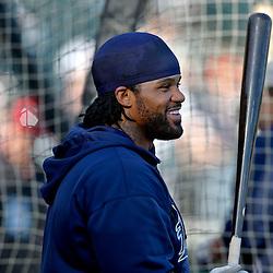 Mar 7, 2013; Lake Buena Vista, FL, USA; Detroit Tigers first baseman Prince Fielder (28) before a spring training game against the Atlanta Braves at Champion Stadium. Mandatory Credit: Derick E. Hingle-USA TODAY Sports
